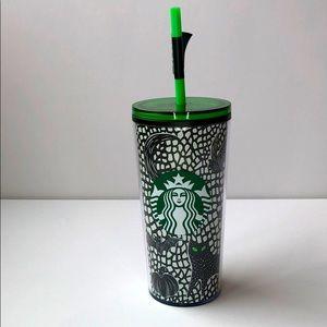 Starbucks Glow in the dark glass